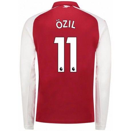 Maillot Arsenal OZIL 2017/2018 Domicile Manches Longues Officiel. Flocages  Personnalisés Disponibles.