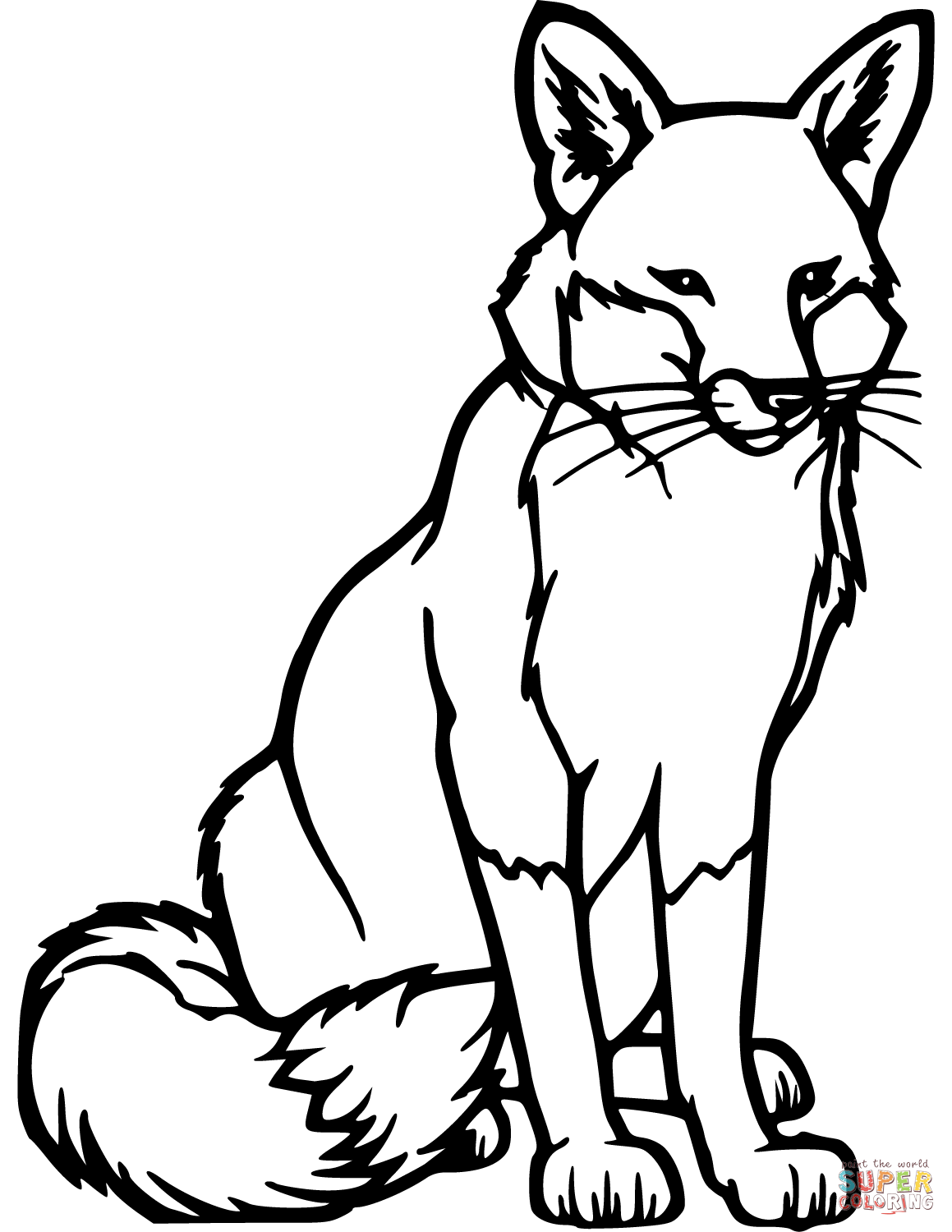 Red Fox Coloring Page Free Printable Coloring Pages Fox Coloring Page Fox Silhouette Animal Templates