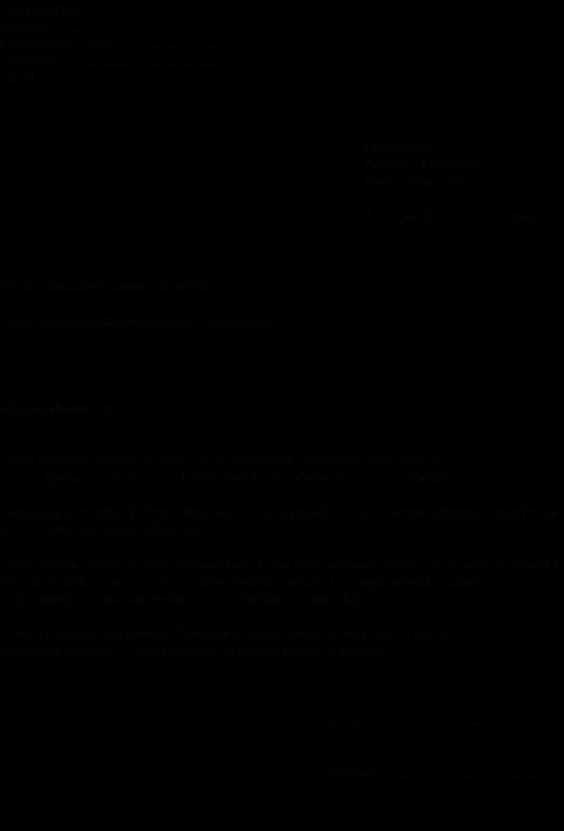 Modèle lettre de résiliation de contrat de crèche  Lettre de