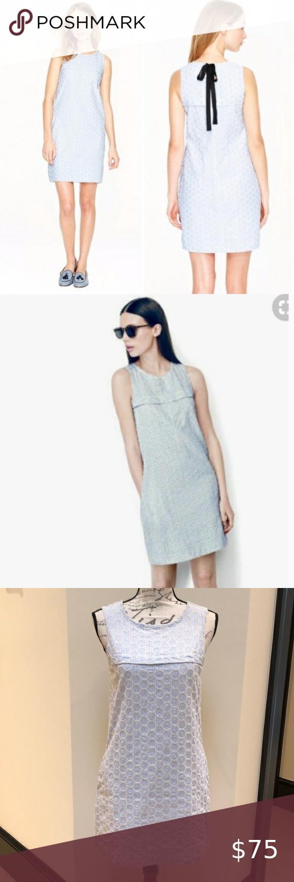 New J Crew Seersucker Eyelet Shift Dress Shift Dress Dresses Clothes Design [ 1740 x 580 Pixel ]