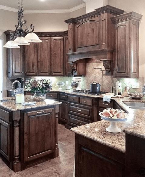 20 Dark And Elegant Kitchen Decoration Ideas Eweddingmag Com Rustic Kitchen Design Elegant Kitchens Rustic Kitchen Cabinets