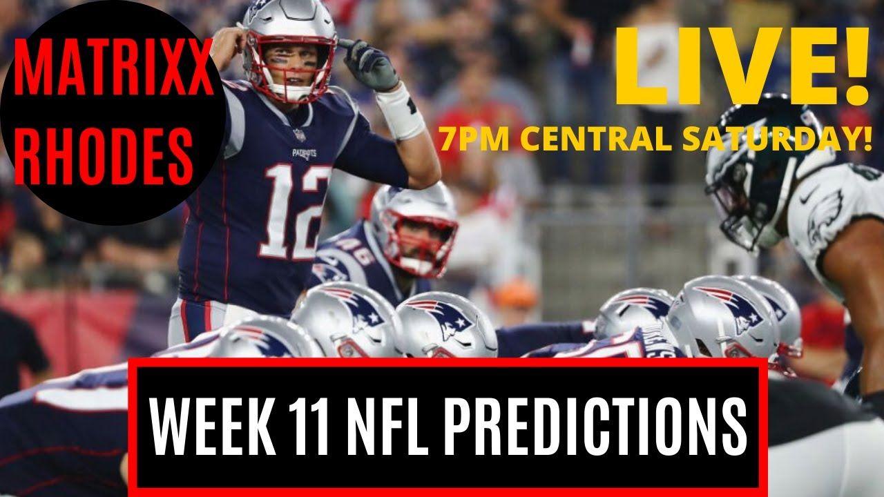 Nfl Week 11 Predictions Picks Texans Vs Ravens Patriots Vs Eagles Nfl Week Nfl Patriots
