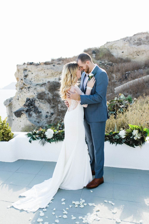 Naroussos romantic elopement wedding in santorini greece