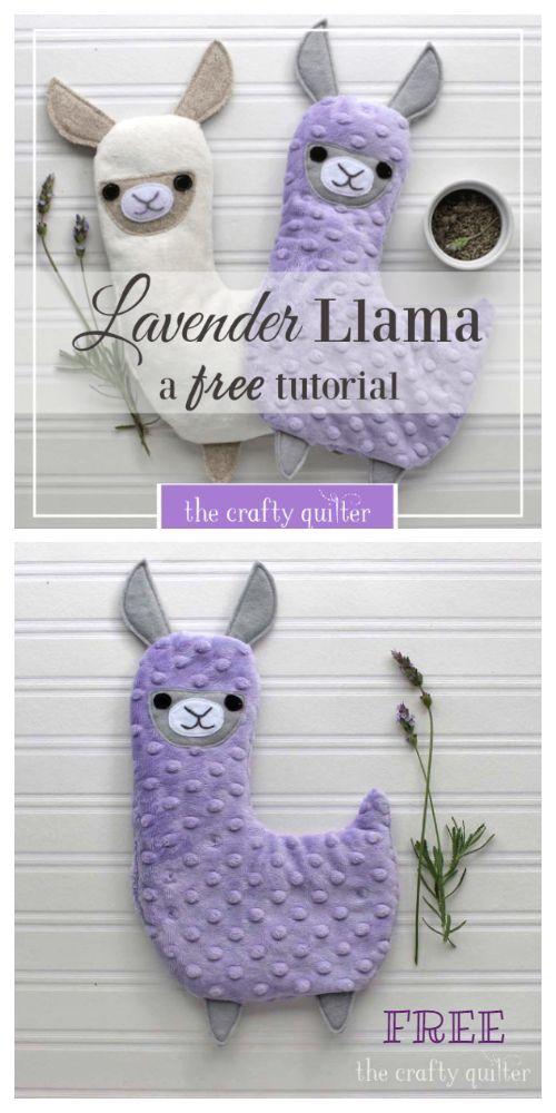 Photo of DIY Fabric Lavender Llama Hotpack Free Sewing Pattern + Tutorial