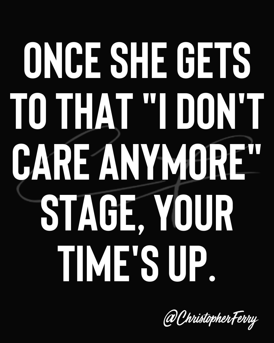 Care anymore when she doesnt The Truth