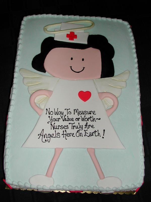 A too cute cake for Nurses Appreciation Week Nurse Desserts