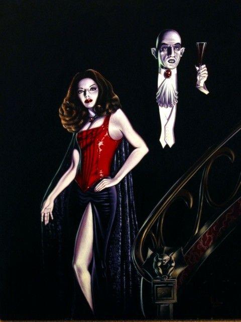 Vampire Nosferatu and His Bride Digital black by chatnoirstudios