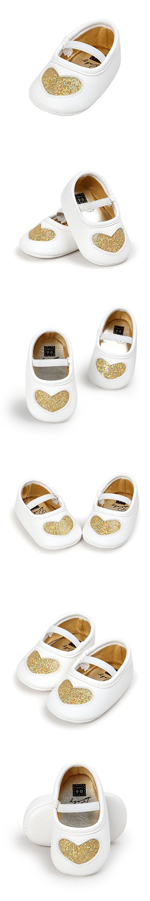 RVROVIC Baby Girl Moccasins Princess Sparkly Premium Lightweight Soft Sole Shoes