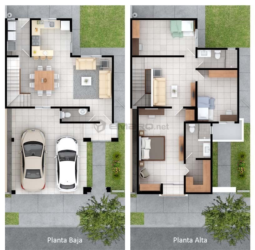 Plano de casa en  render modern house plans small best also houses in pinterest rh