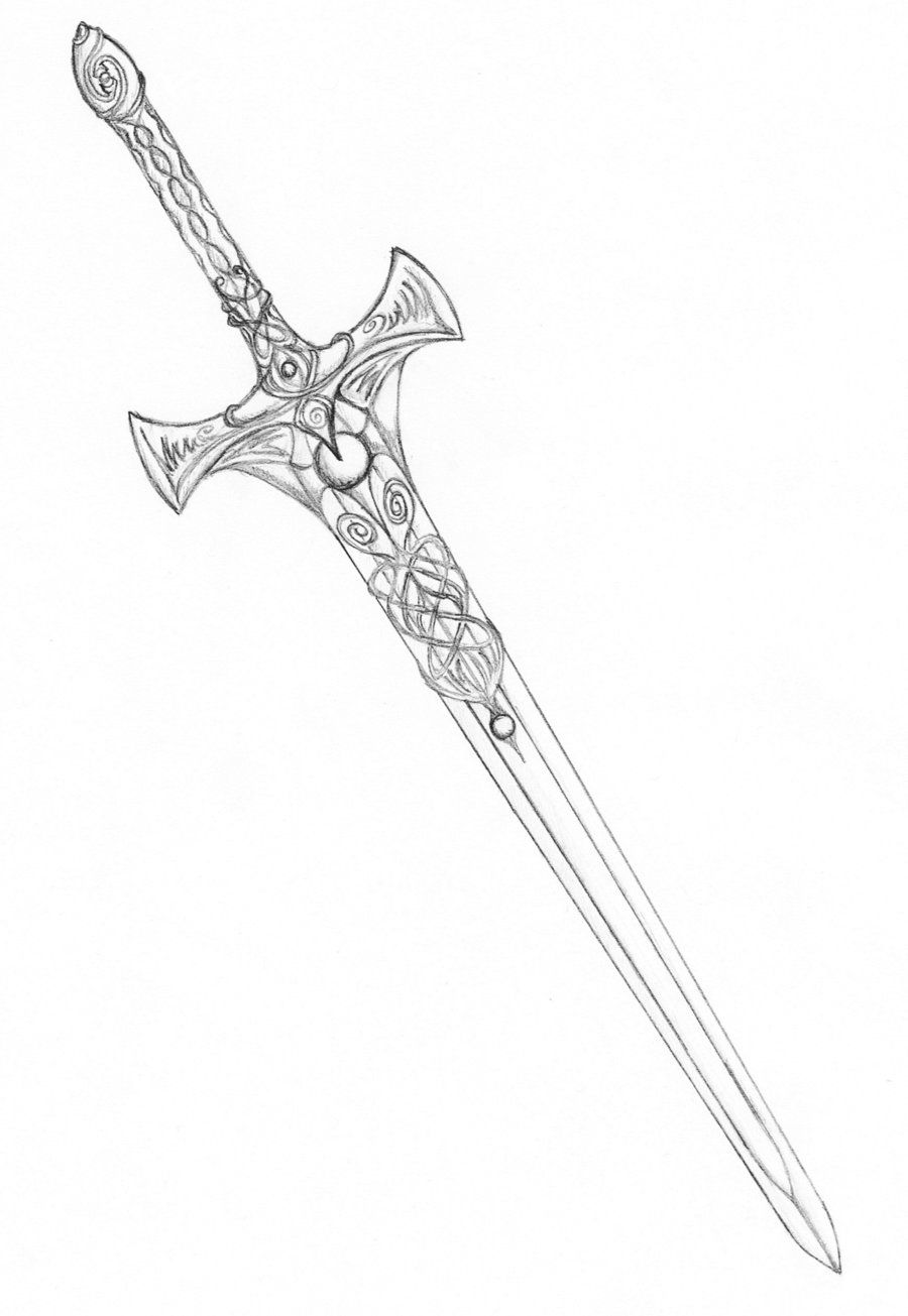 Sword Is The Ultimate Symbol Of A Warrior Celtic Sword border=