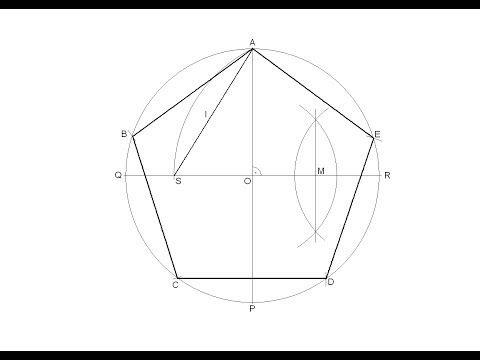 Pentágono Regular Inscrito En Una Circunferencia Dibujos De Geometria Diseño De Tatuaje Geométrico Pentagono Geometria