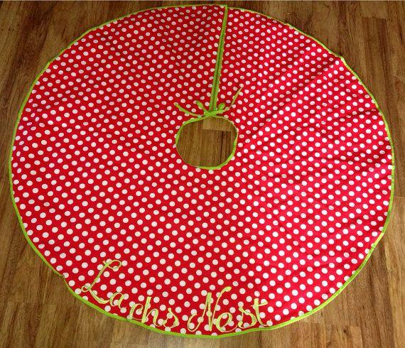 Christmas Tree Skirt on Etsy, $25.00