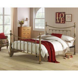 Best Buy Argos Home Mason Kingsize Bed Frame Antique Brass 400 x 300