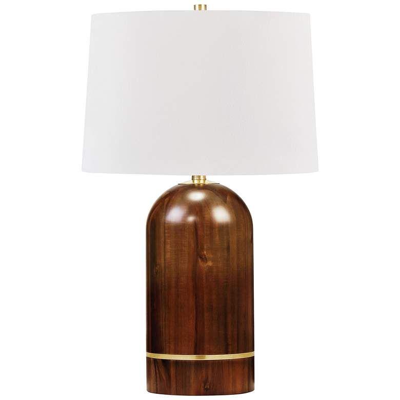 Hudson Valley Albertson Medium Tram Acacia Wood Table Lamp 80r92 Lamps Plus Table Lamp Wood Table Lamp Lamp