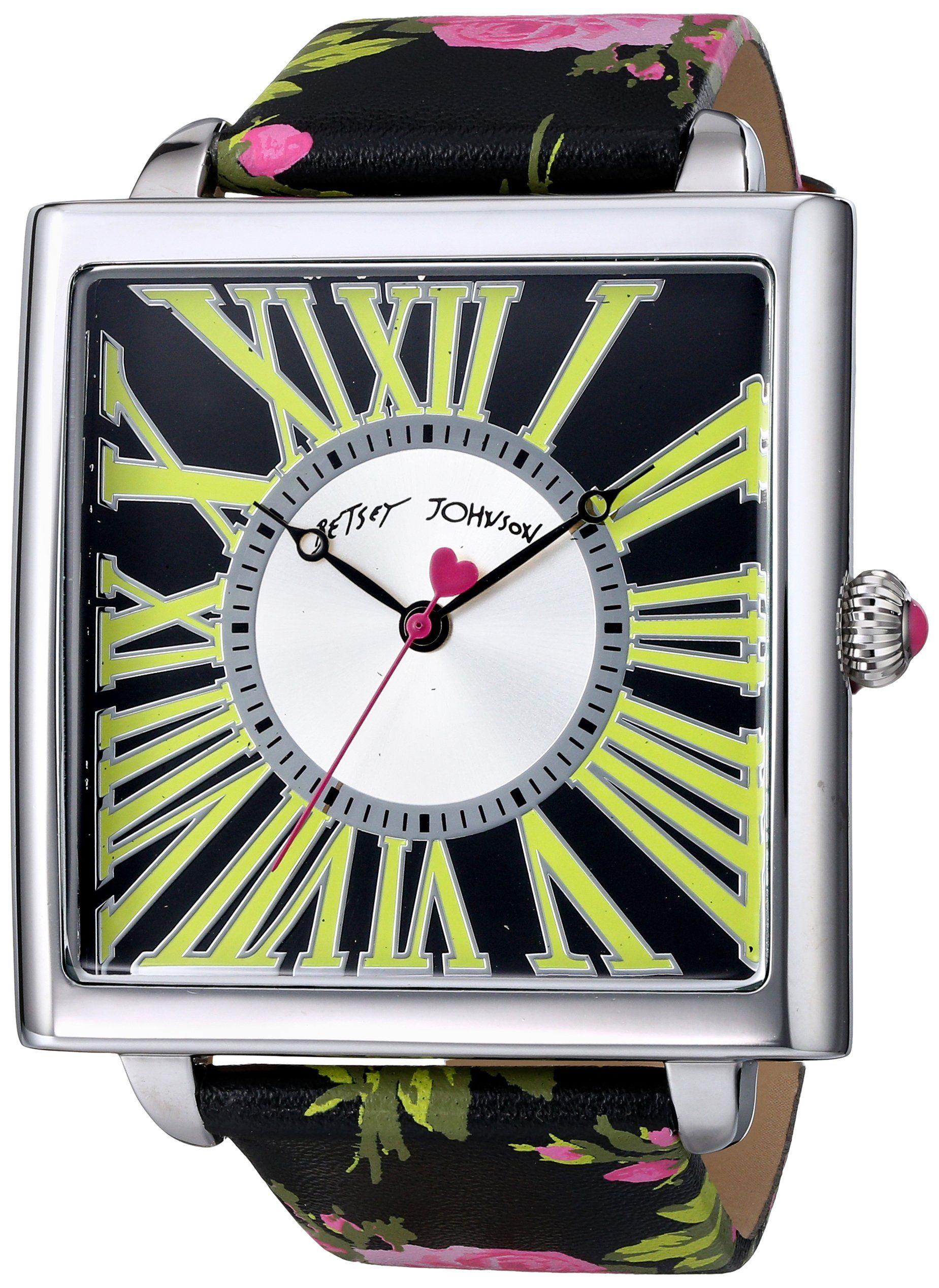 Betsey Johnson Women's BJ00325-02F Analog Display Quartz Multi-Color Watch