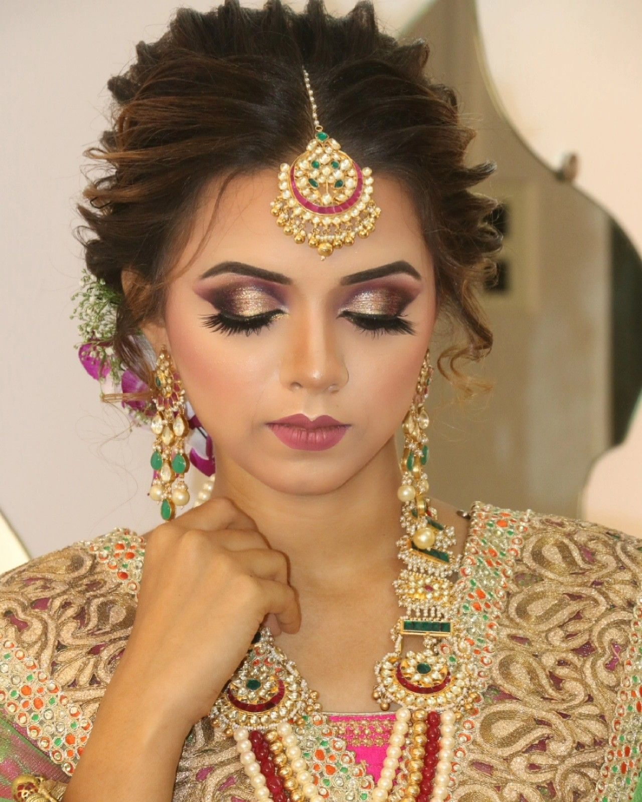 Pin By Amisha Salunkhe On Amimua Wedding Hair And Makeup Party