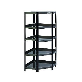 Craftsman Corner Steel Shelving Unit Black Platinum Steel Shelving Unit Steel Shelving Corner Shelves