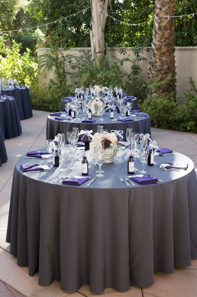 Purple And Gray Diy Wedding Peterson Design Photography