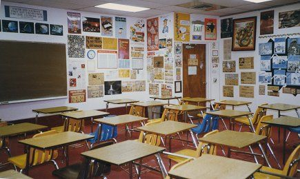 Modern High School Classroom : My role is to figure out what the modern student teacher