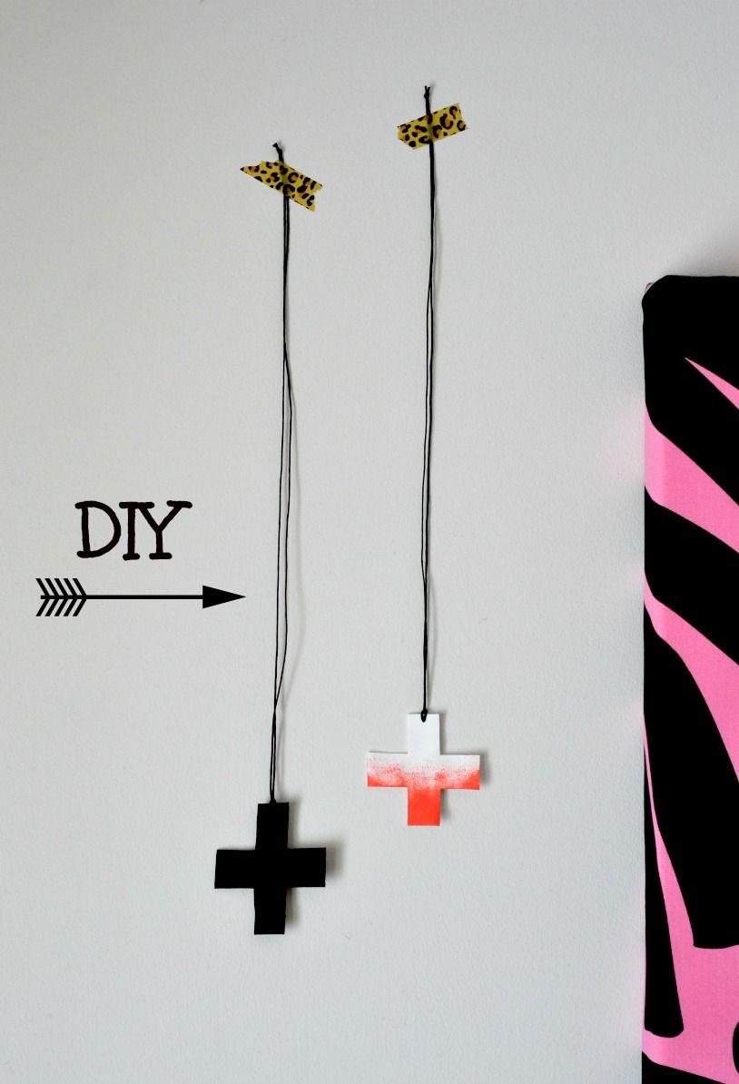 Santun Maja: Shrink plastic cross necklaces