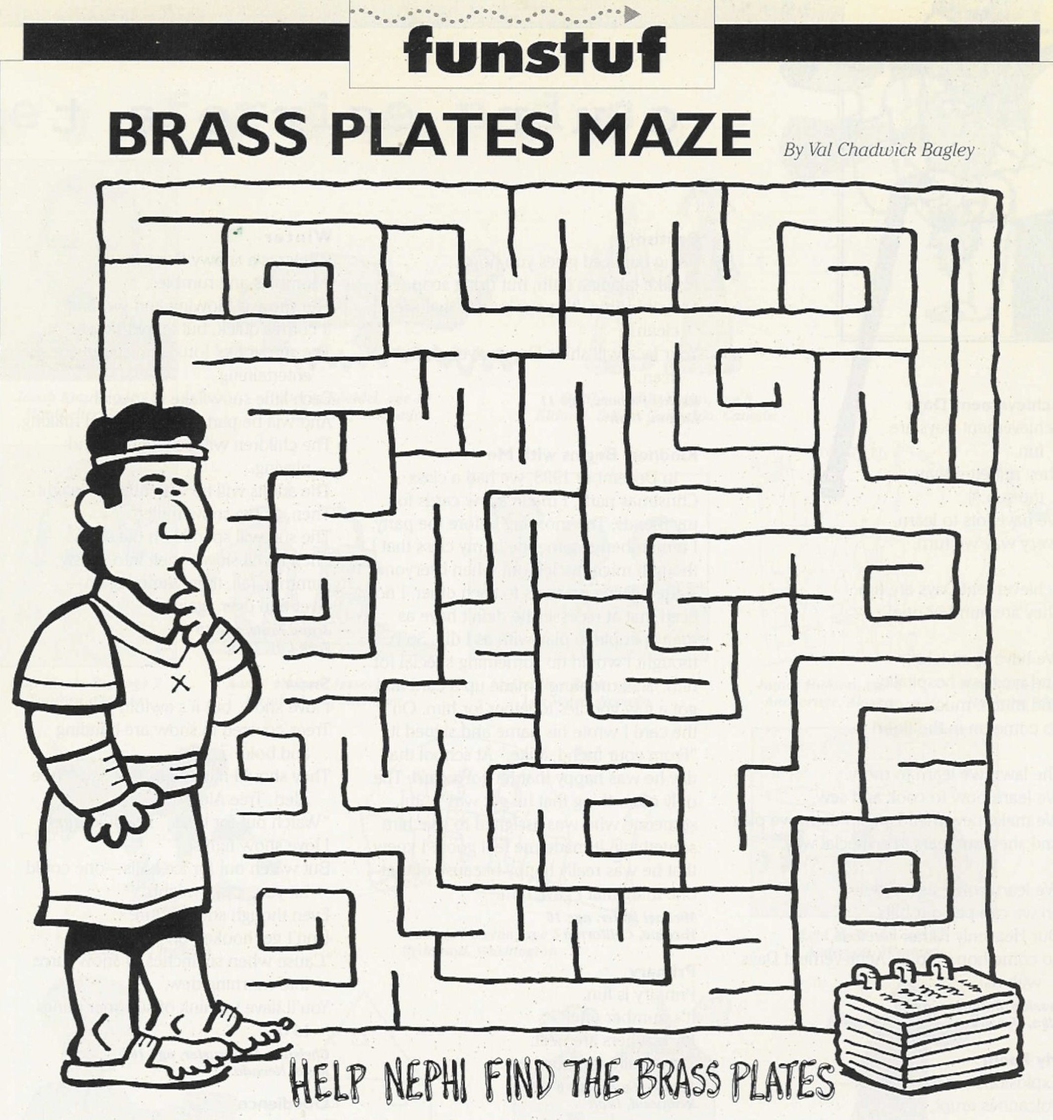 Maze Nephi Gets The Brass Plates Lds Coloring Pages Lds Primary Lds Kids