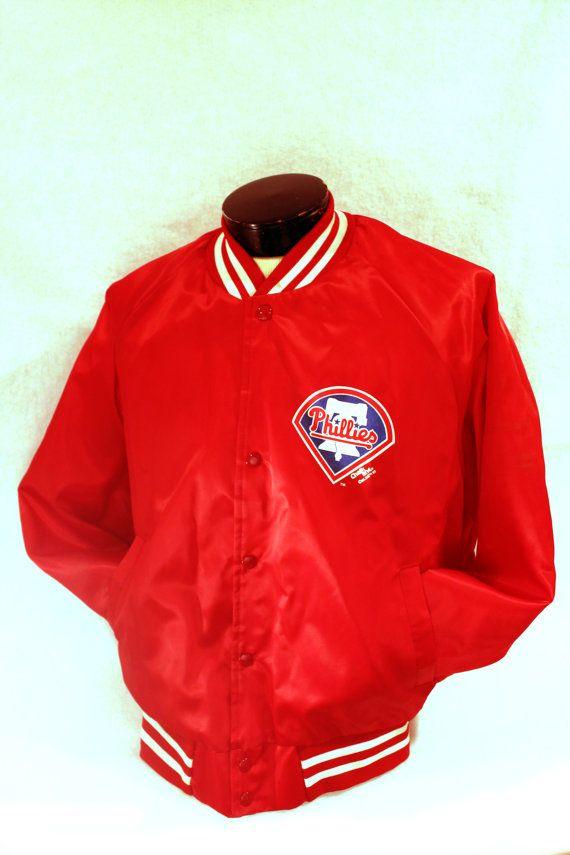 f7d4c5b15a1 Vintage Philadelphia Phillies Chalk Line Warm Up Jacket Size Large ...