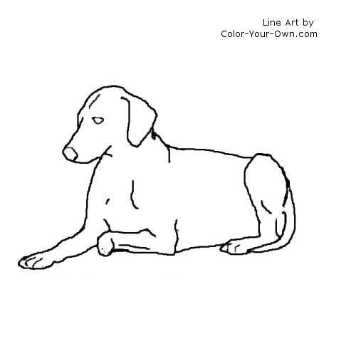 Lying Down Dog Line Art Dog Line Art Dog Line Dog Pattern