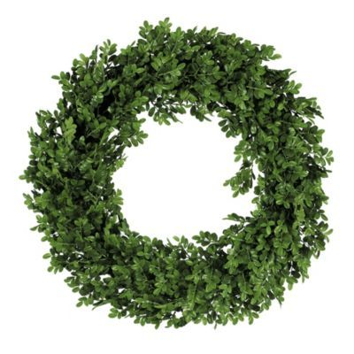 Boxwood Christmas Wreath - I can almost smell this from here! It is