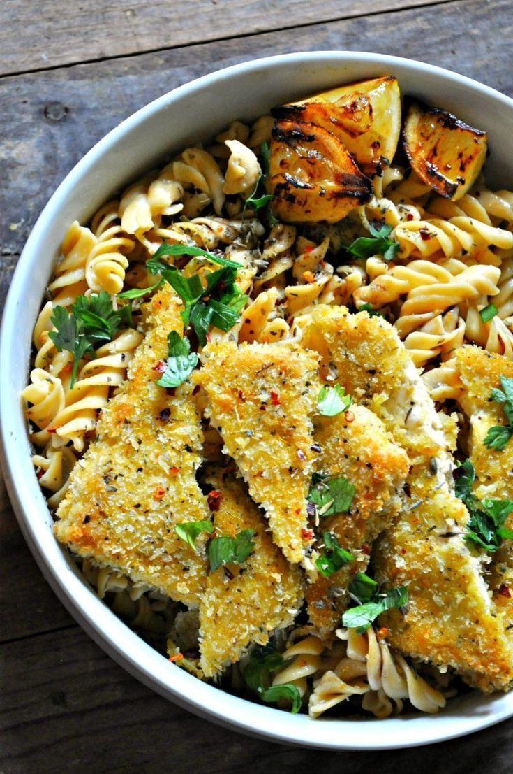 Vegan Parmesan Herb Crusted Tofu
