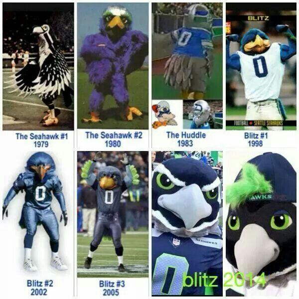 history of seattle seahawks mascot seahawks