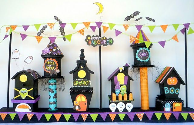 Top Ten Halloween village, Craft and Holidays - halloween milk jug decorations