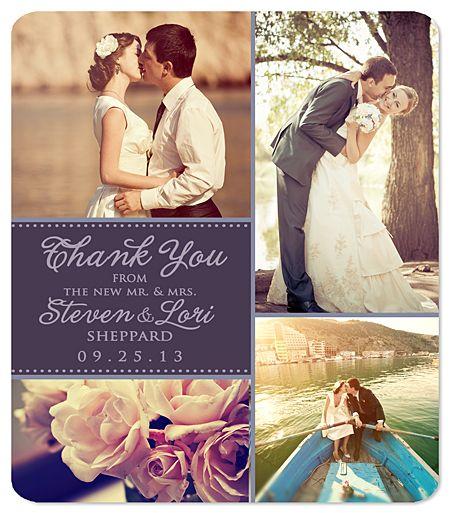 Photo Collage Thank You Magnet Four Photos