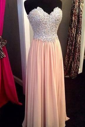 Beading Prom Dresses V-neck Chiffon Prom Dresses Graduation Dresses PD014