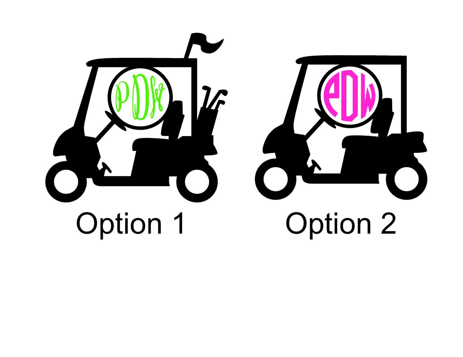 Golf Cart Monogram Sticker Vinyl Decal Sticker Vinyl Golf Carts - Hunting decals for trucksonestate rack attack truck van window vinyl decal sticker