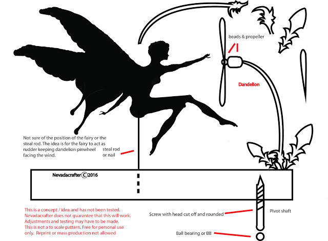 Free Patterns and ideas: Fairy whirligig / weathervane