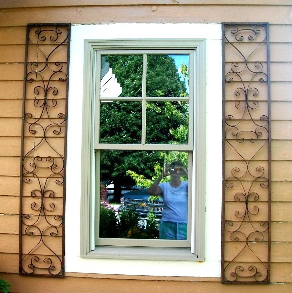 Wrought Iron Exterior Home Accents Window Shutters  New Orleans Wrought Iron Exterior Window
