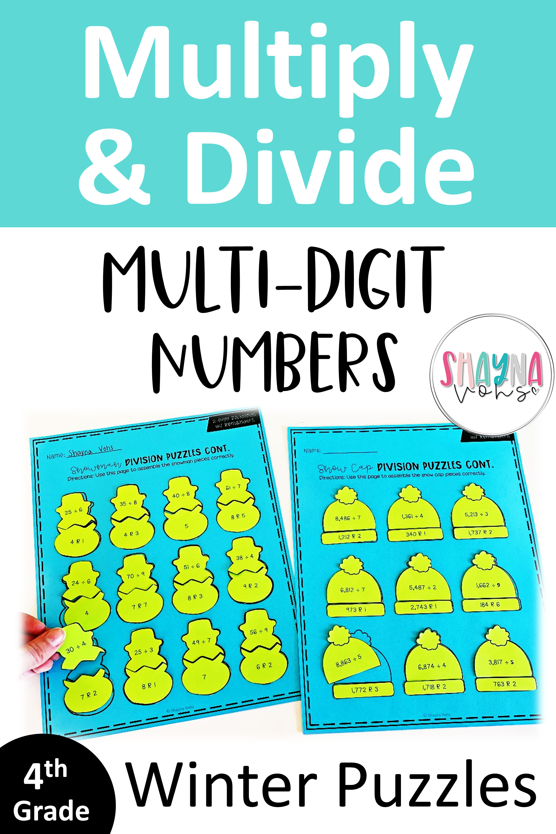 Multiplication and Division Puzzles Multiplication