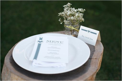 Love Stripes Menu and Escort Cards Free Wedding Templates Free - love templates free