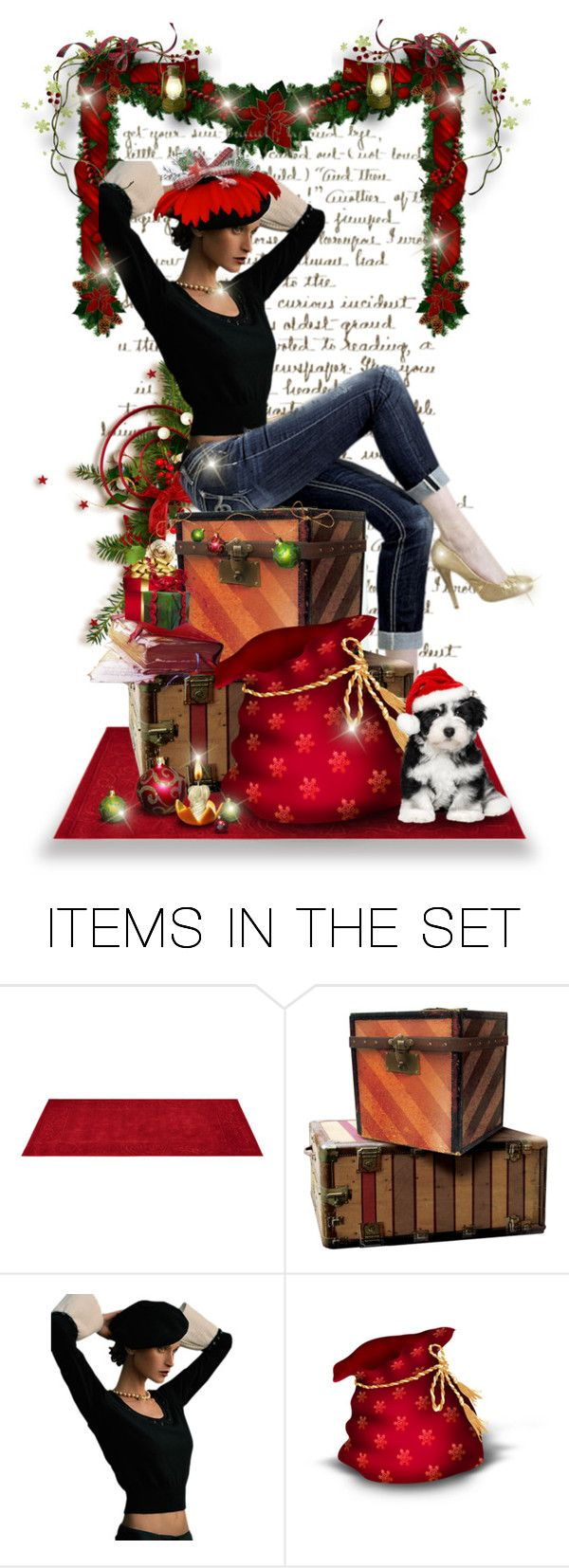"""""""Blue Jean Christmas"""" by pati777 ❤ liked on Polyvore featuring arte"""