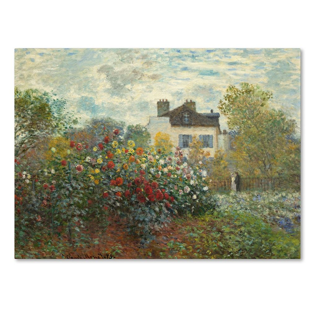 Trademark fine art the artists garden in argenteuil canvas wall art