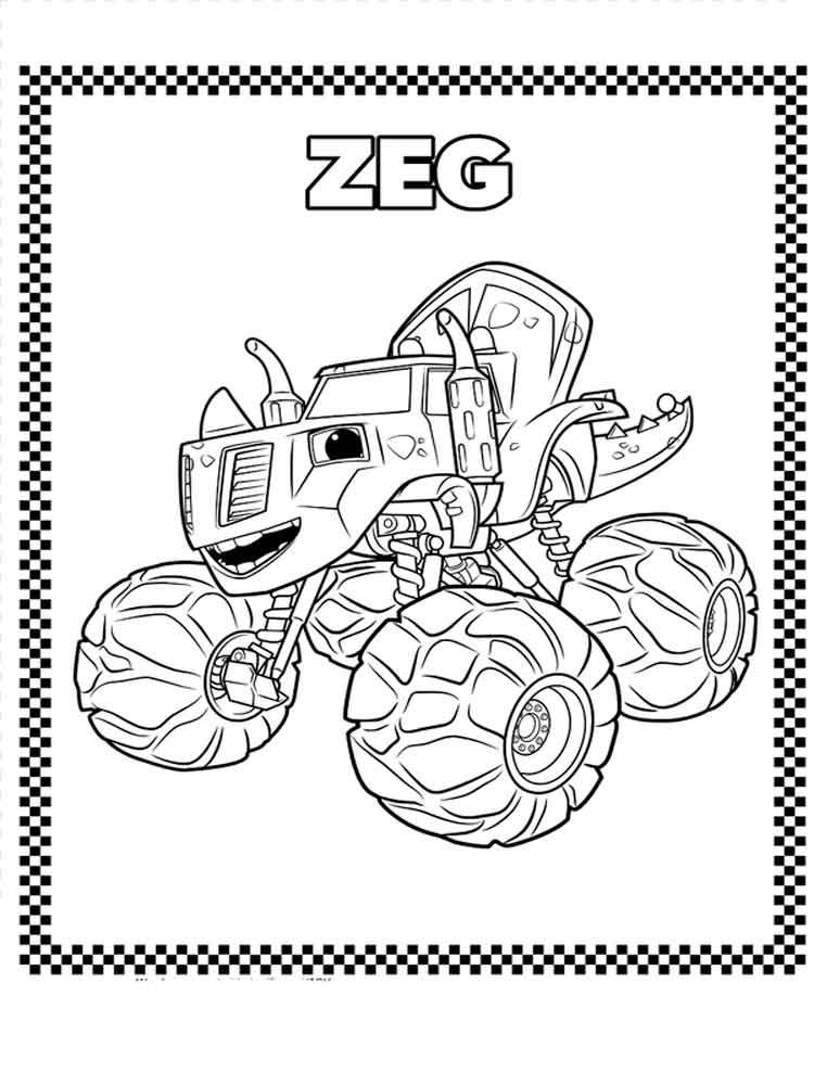 Blaze And The Monster Machines Coloring Pages 10 Coloring