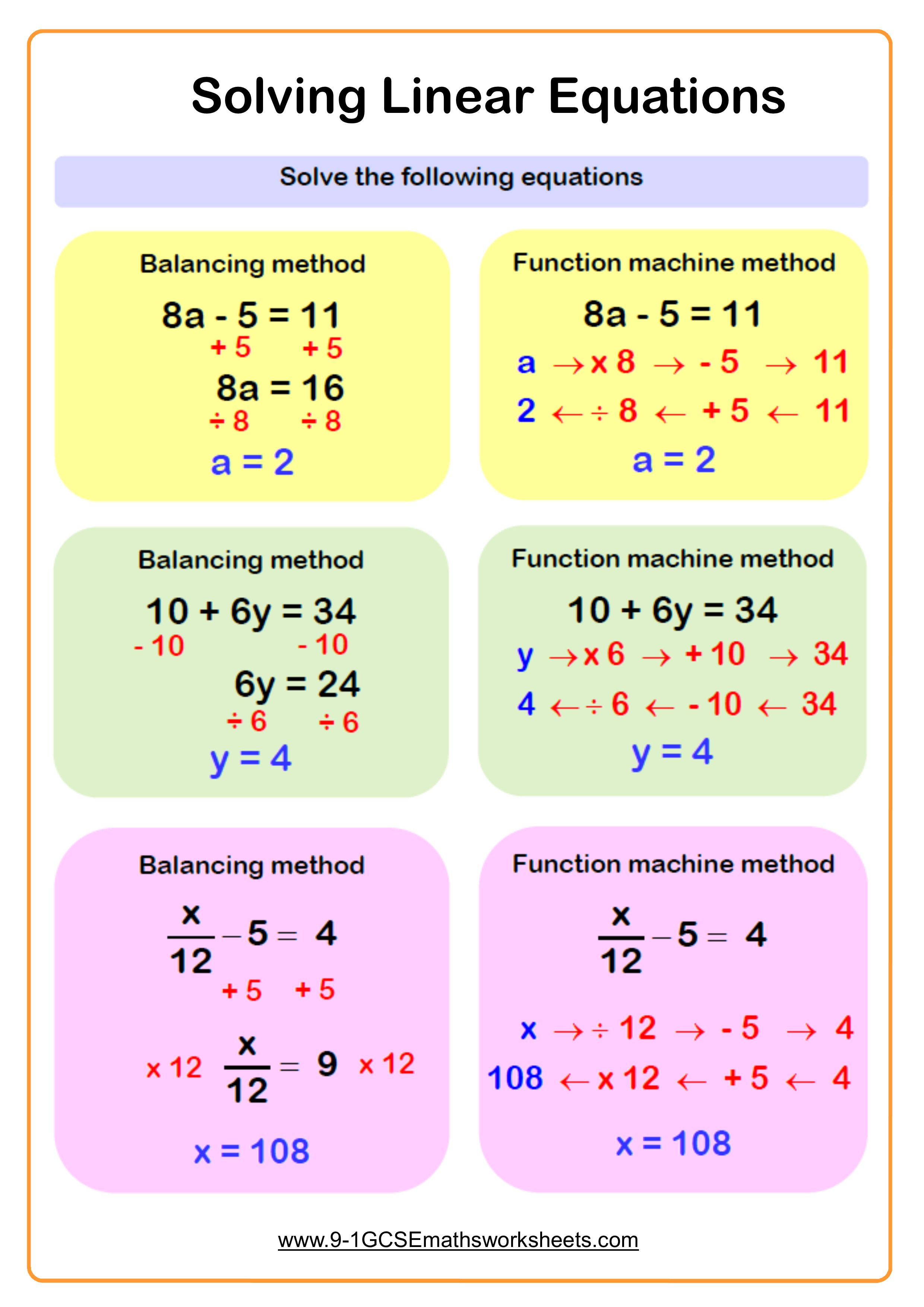 Equations Math Examples Math Equations In