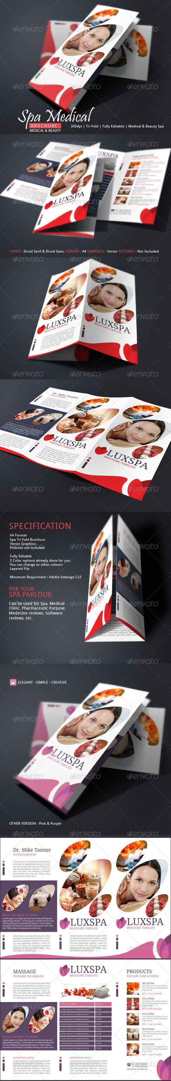 Stand Out From The Rest By Using A Bold Color  Spa Brochure