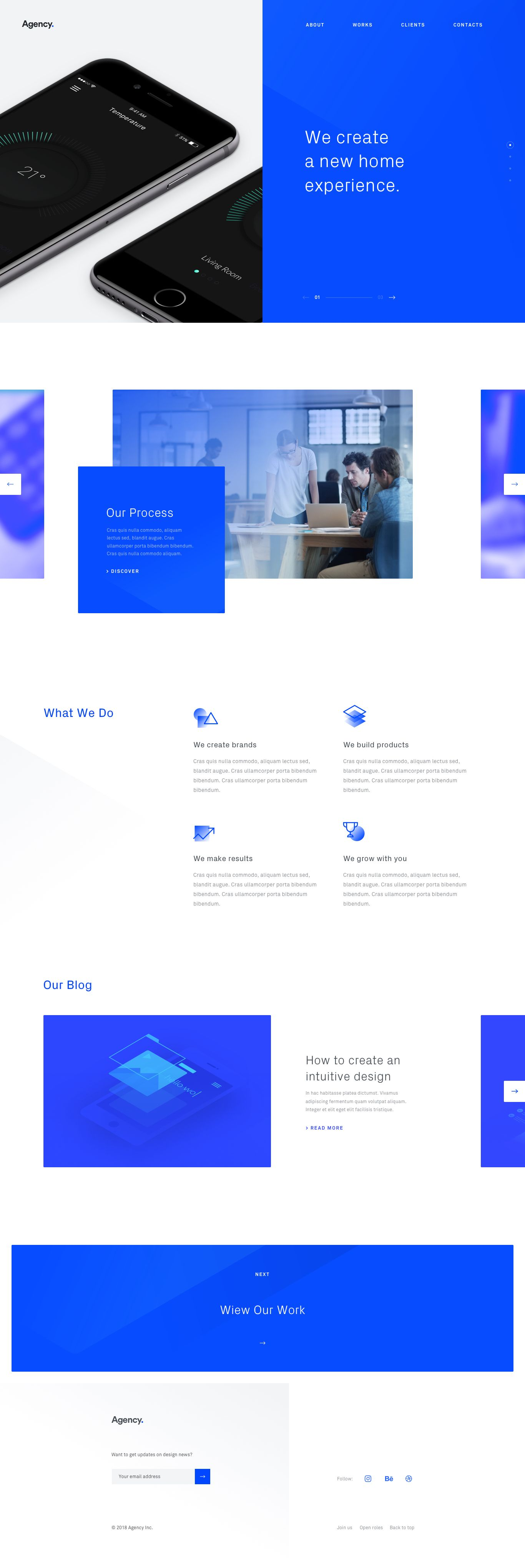 Inspiration Photo And Text Box Layering Clean Web Design Agency Website Design Website Design