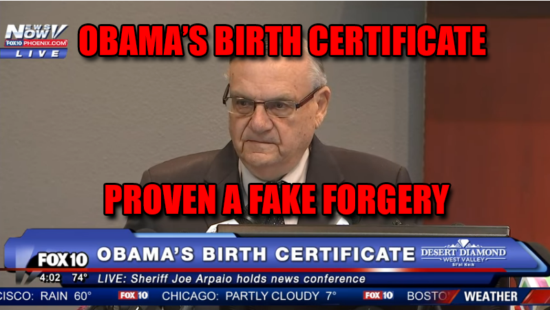Barack Obamas Birth Certificate Has Been Proven By Forensic
