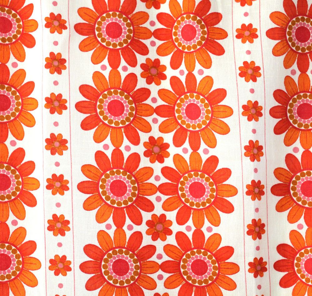 Vinyl 1960s 70s Bloomin Original Caltha Floral Vintage Wallpaper