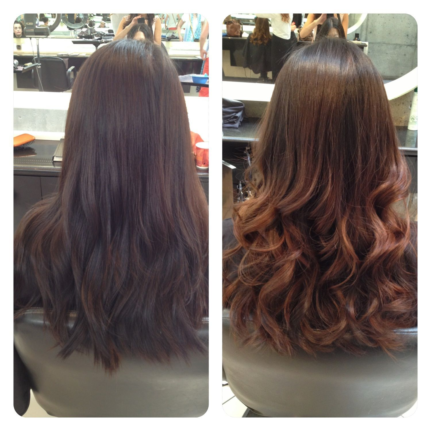 Ombre Asian Hair Before And After Asianmakeupproducts Permed Hairstyles Asian Hair Perm Hair Styles