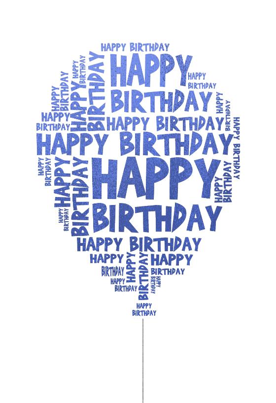 Happy Birthday Balloon Birthday Card Free Greetings Island Free Birthday Card Birthday Card Printable Birthday Card Template Free