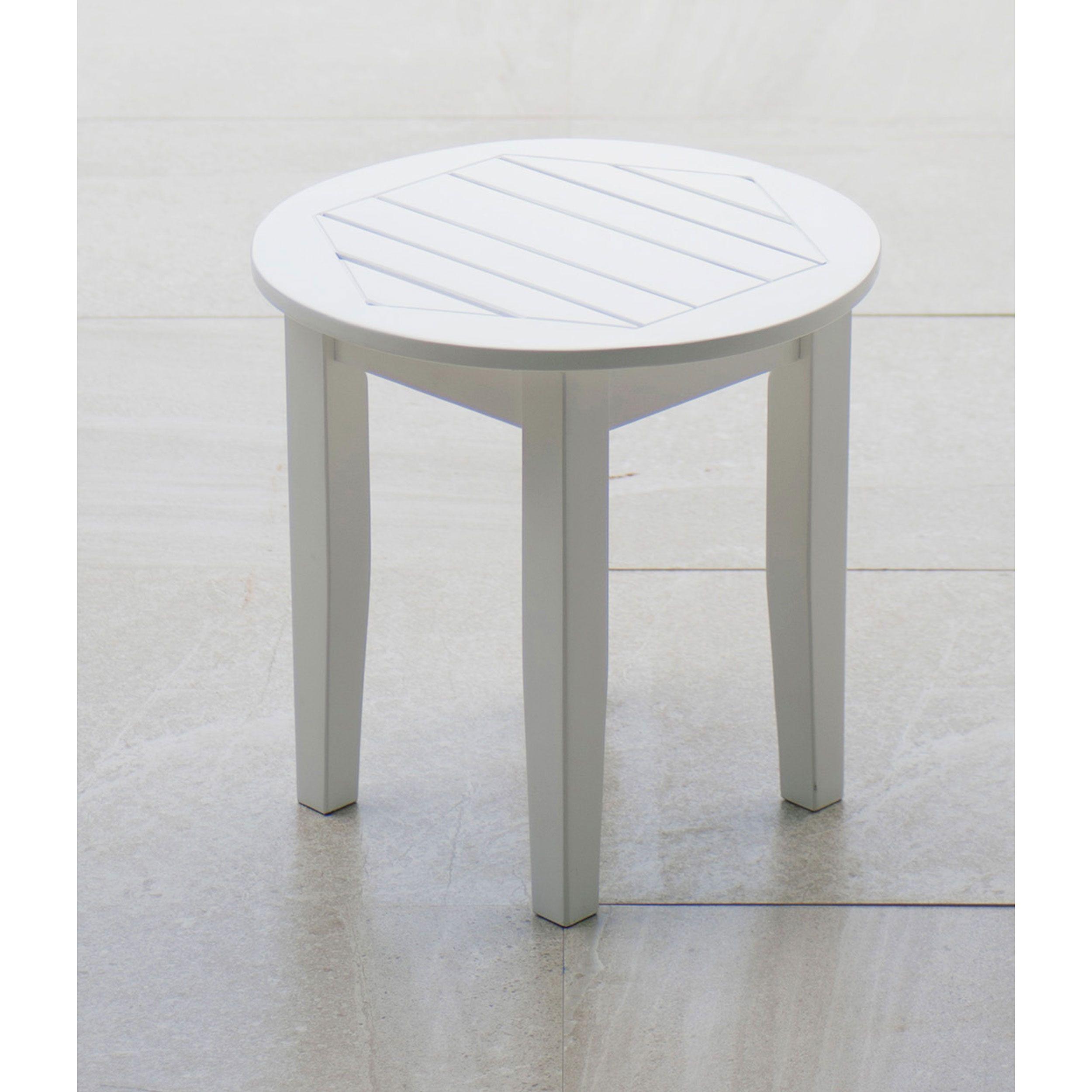 Cambridge Casual Alston White Side Table (18 in. Lx 18 in. W x 17 ...