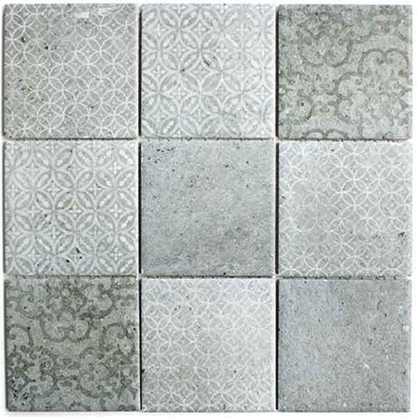 Cloudy 98x98 mosaikhjørnet fliser klinker og mosaik til badeværelse